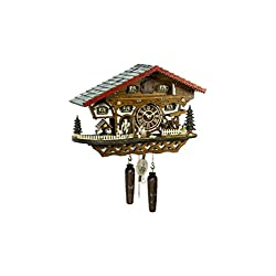 Trenkle Uhren Quartz Cuckoo Clock Swiss house with music, turning dancers TU 4246 QMT HZZG