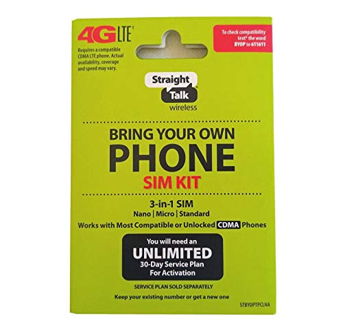 Straight Talk Verizon 4G LTE 3G CDMA Bring Your Own Phone Activation ()