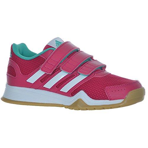 adidas Kinder Indoor Schuhe Interplay CF Pink / Weiss / Mint -35 (EU)