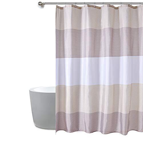 Anjee Cortina de baño Ganchos para baño, Resistente al Moho Resistente al Moho, Cortina de baño a Rayas sostenible, 183 x 183 cm