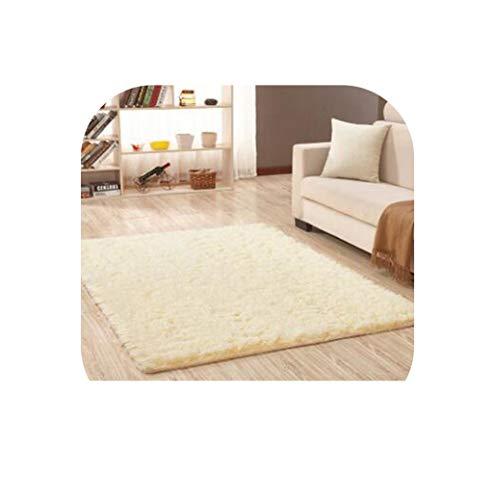 Heart to hear Carpet-Black Soft Carpets Anti-Skid Plush Hair Shaggy Carpet Area Rugs Floor Mats for Living Room Bedroom,Rice Yellow,50cm x 120cm