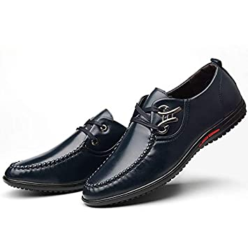 Zapatos Oxford Cómodos Casual para Hombre,ZARLLE Zapatos de Cordones, Adecuado para El Trabajo y el Uso Diario, Zapatos Derby Cuero de Imitación, ...