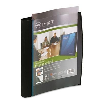 (Wilson Jones 21514 Smart-View Multi-Ring Presentation Book, 12 Letter-Size Sleeves, Black/Blue)