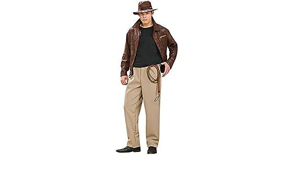 0062d2c9efef8 Rubies Disfraz de Indiana Jones Deluxe - Adultos  Amazon.es  Ropa y  accesorios