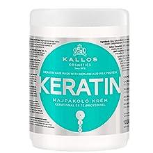 Kallos KJMN Keratin - mascarillas para el cabello (Mujeres, Cabello dañado, Cabello seco, Reparación)