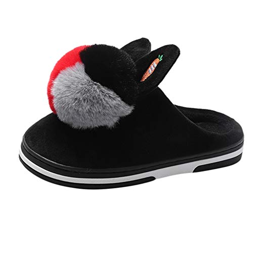 Midress Women's Warm Cotton Home Slippers Memory Foam Soft Flat Shoes Winter Warm Cute Indoor Plush Slippers