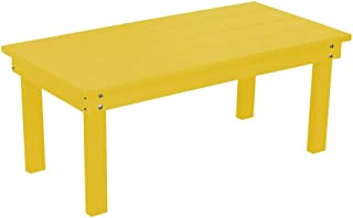 product image for Outdoor Hampton Rectangle Coffee Table - Lemon Yellow Poly Lumber - Recycled Plastic