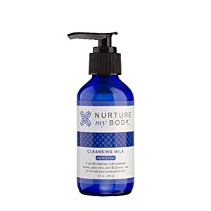 Nurture My Body Organic Facial Cleansing Milk - Best for Normal to Oily, or Sensitive Skin - 100% Organic and All Natural!