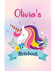 Olivia's Notebook: Composition Notebook | Wide Ruled Paper Notebook Journal | Nifty Wide Blank Lined Workbook for Teens Kids Students Girls for Home School College