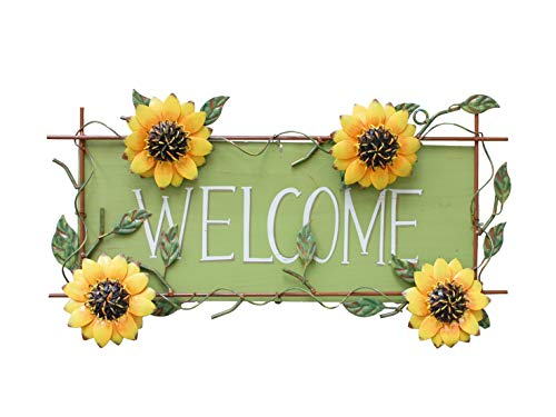 Metla Sunflower Welcome Decorative sign 17''X10'' by Grace Home