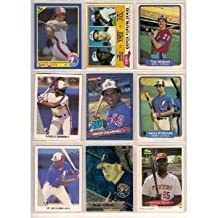 40 Different Montreal Expos Baseball Cards from 1980-1989 In Protective Display Album