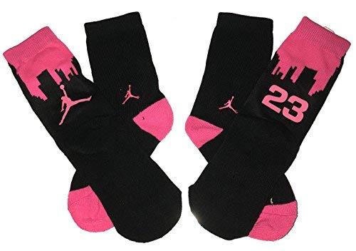 - Big Kids Jordan Two-Tone 2-Pack High Crew Socks 3Y-5Y/7-9(Sock Size)
