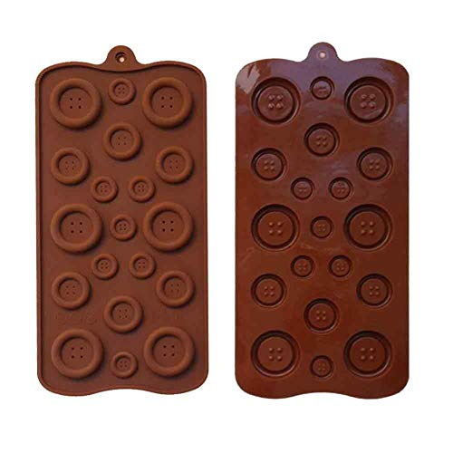 (2 Pack 19-Cavity Silicone Button Chocolate DIY Mold Baby Shower Fondant Sugar Craft Chocolate)
