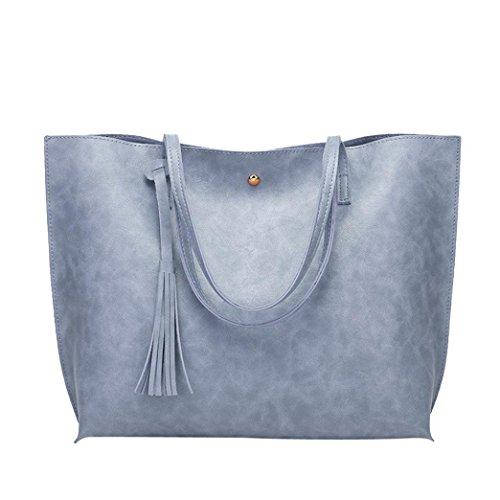 Rakkiss Women's Cat Ear Shoulder Bag Large Capacity Handbag Lovely Messenger Bag Shopping Casual Totes (One_Size, Blue)