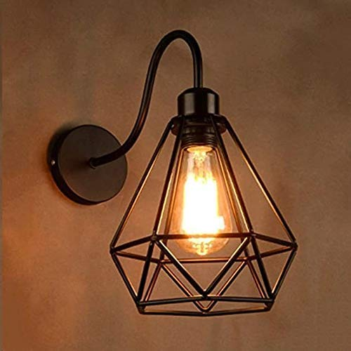 SL Light Antique Down Lamp Decorative Pendant Hanging Wall Light for Indoor Outdoor Office (Black, Set of 2, No Bulbs…