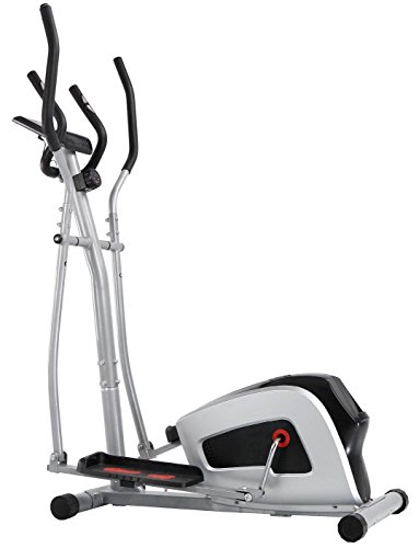 Cheap CRYSTAL FIT Home Elliptical Cross Machine Smooth Quiet Drive with LCD Monitor and Tension Control