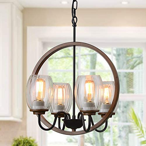 Giluta Industrial Metal Chandelier Island Pendant Lighting Kitchen Light Fixture Elegant Style Hanging Ceiling Light 4 Light