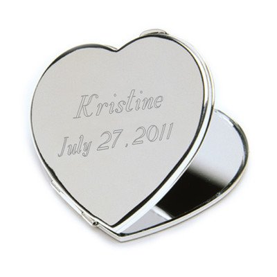 Personalized JDS Gifts Heart Compact Mirror