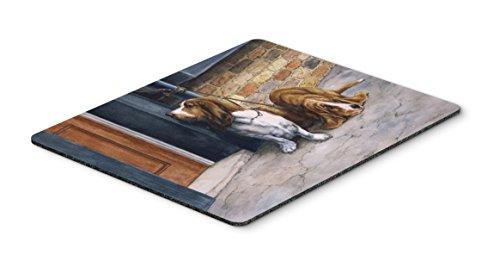 Caroline's Treasures Bassets Basset Hound Mouse Pad, Hot Pad or Trivet, Multicolor (BDBA0016MP)