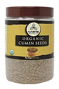 Naturevibe Botanicals Whole Cumin Seeds 1lb | Cuminum cyminum L. | Raw, Gluten-Free & Non-GMO | Adds Flavor and Taste... [Packaging may vary]