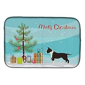 "Caroline's Treasures CK3515DDM American Staffordshire Terrier Christmas Tree Dish Drying Mat, 14 x 21"", multicolor 20"
