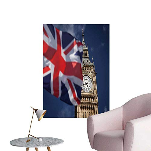 (SeptSonne Wall Decorative British Union Jack Flag Ben Clock Tower at City Westminster Pictures Wall Art Painting,28