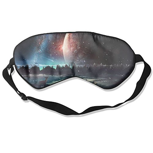 Goods Shops Mulberry Silk Sleeping Masks Planet Deer Eyepatch Eye Masks Adjustable Sleeping Eye Shade ()