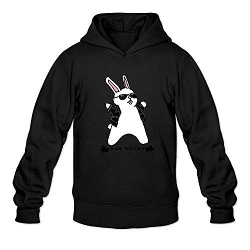 LS Bad&Bunny Men's Pullover Logo Hoodie Unisex Custom Sweater Small Black Bunny Hop Baby Blanket