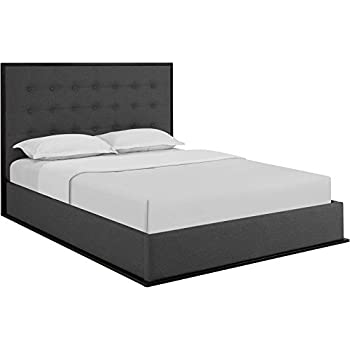 Amazon.com: Modway Madeline Queen Upholstered Bed Frame in ...