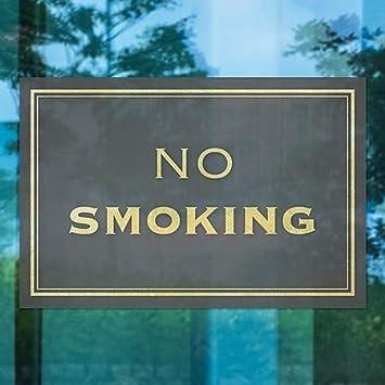CGSignLab Classic Gold Window Cling 5-Pack 30x20 No Smoking