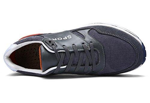 A Negro Gray Hombre Tobillo 46 45 Cuero Invierno Casual Goma Tamaño 39 Cordones Fitness 40 De Con Swnx Deporte Zapatos UEqawZv7