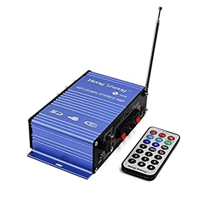 eDealMax 2 Canales Mini Hi-Fi Pantalla Digital amplificador Audio estéreo de coche de la