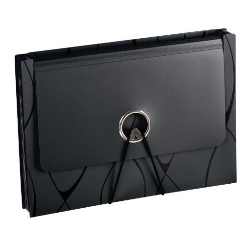 Pendaflex Sliding Cover Expanding File, 13 pockets, Letter Size, Black (2327)