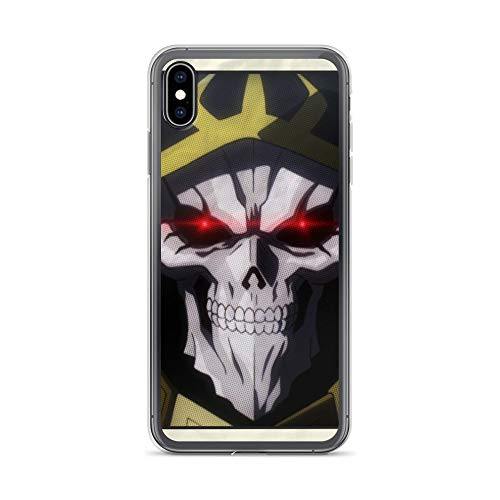 (iPhone Xs Max Case Anti-Scratch Japanese Comic Transparent Cases Cover Ainz Ooal Gown Anime & Manga Graphic Novels Crystal Clear)
