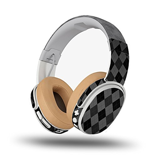 Skin for Skullcandy Crusher Wireless Headphones - Black Argyle| MightySkins Protective, Durable, and Unique Vinyl Decal wrap cover | Easy To Apply, Remove, and Change Styles | Made in the (Argyle Candy Skin Cover)