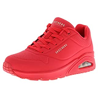 Skechers Women's Uno-Stand on Air Sneaker, Red, 6 M US
