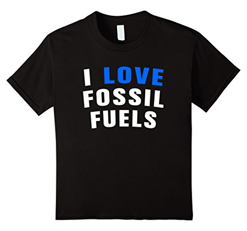 Kids I love fossil fuel t-shirt 10 Black (Fossil Mens Clothes)