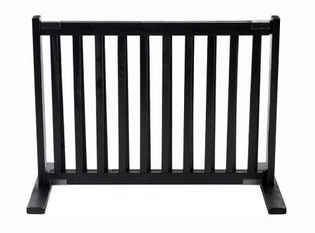 Dynamic Accents All Wood Freestanding Pet Gate Small - Black
