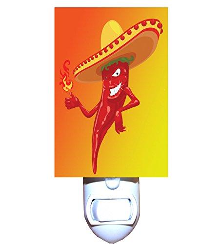- Mexican Chili Pepper Fire Decorative Night Light