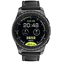 KingWear KW28 2G Heart Rate Monitor Smartphone Watch 1.3inch Screen RAM 64MB ROM 128MB - Black