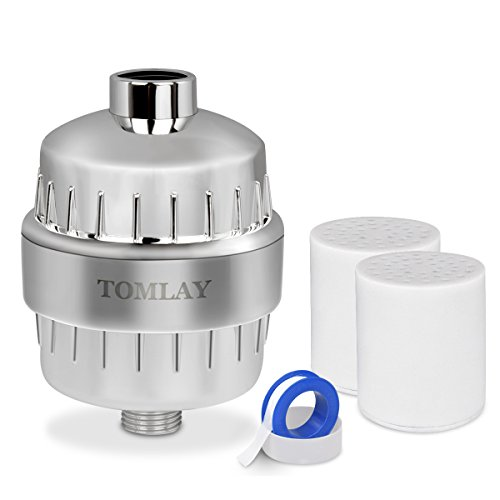 Tomlay Shower Filter, High Output 12-Stage Shower Water Filter - 2 Cartridge Included - Reduces Dry Itchy Skin, Dandruff, Eczema, and Dramatically Improves the Condition Of Your Skin, Hair And Nails