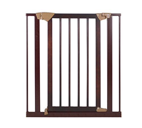 Price comparison product image Baby Trend Tall Pressure Fit Wood and Metal Gate,  Espresso
