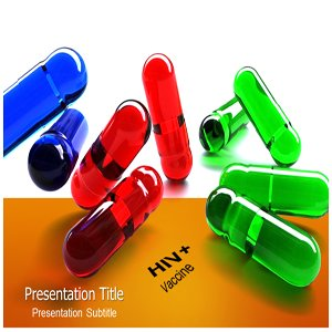 amazon com hiv vaccine powerpoint template hiv medicine ppt