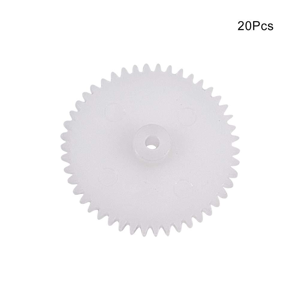 Othmro 20pcs Plastic Gears 46 Teeth Model 462A Reduction Gear Plastic Worm Gears for RC Car Robot Motor