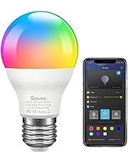 Govee LED RGB-lamp, dimbaar 7W E27 RGB + W Sync met muziekkleurwissellamp met APP | Dimbare veelkleurige lampen voor huisdecoratie, bar, feest, KTV-podium, vakantie, bedlamp