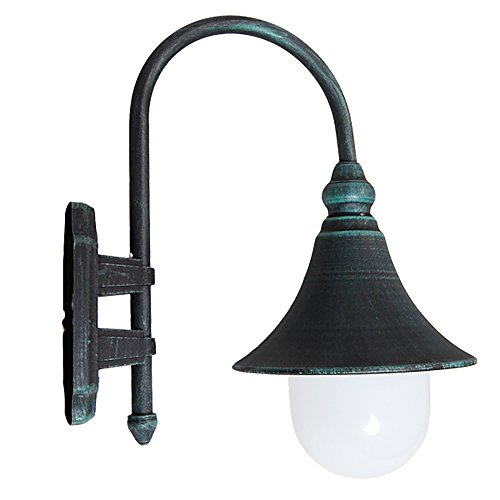 eTopLighting Modello Collection Verde Green Exterior Outdoor Lantern Light with Safe White Polycarbonate, Wall APL1092 (Outdoor Collection Polycarbonate)