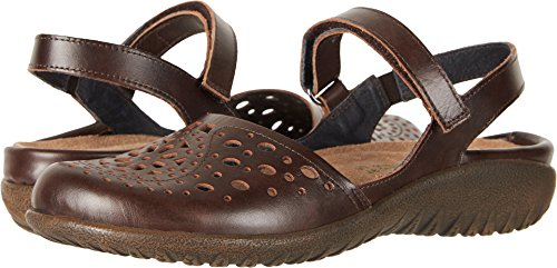 Naot Footwear Women's Arataki Pecan Brown Leather 37 M (Pecan Footwear)
