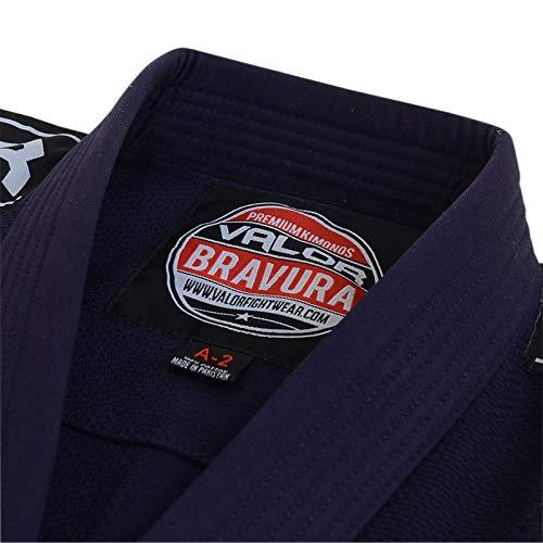 Valor Bravura Kimono BJJ GI color azul marino con cintur/ón blanco de regalo