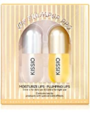 KISSIO Natural Lip Plumper,Lip Enhancer, Plant Extracts Plumping Lip Serum, Lip Plumping Balm, Moisturizing Clear Lip Gloss for Fuller Lips & Hydrated Beauty Lips 5.5ml