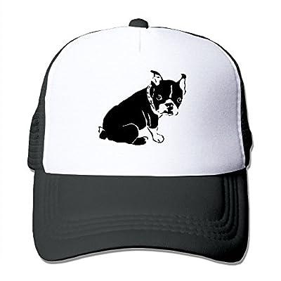 HAT-HAT Black Boston Terrier Men's Women's Adjustable Snapback Hats Trucker Cap | Baseball Caps Mesh Back